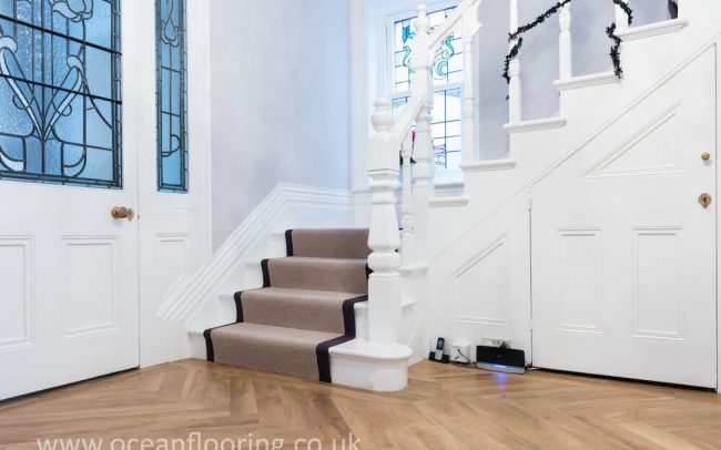 Fitted stair runner carpet